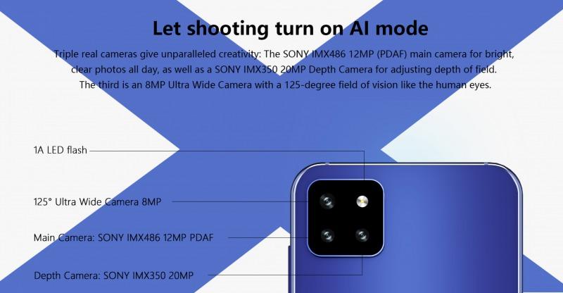CUBOT X20 Proのリアカメラ