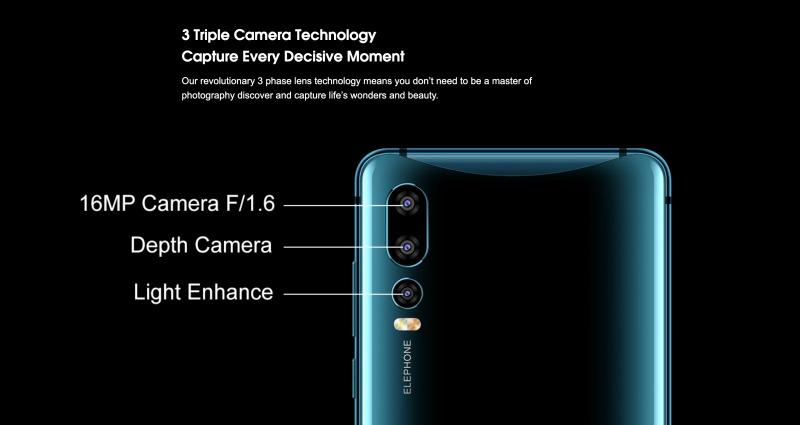 Elephone U2のリアカメラ