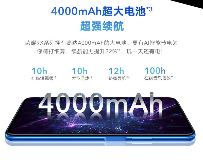 Honor 9X/9X Proのバッテリー