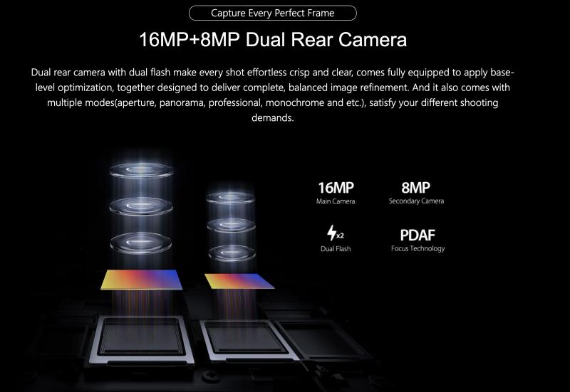 Ulefone T2のカメラ
