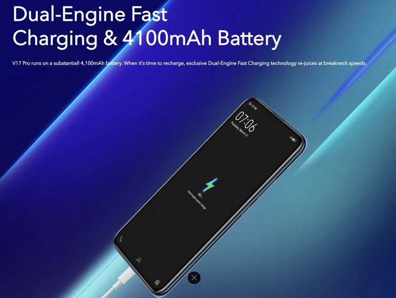 vivo V17 Proのバッテリー