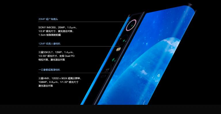Xiaomi Mi MIX Alphaのトリプルカメラ