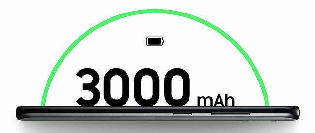 しっかりした3,000mAhのバッテリー容量