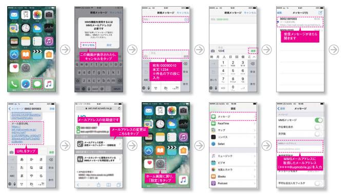 UQモバイルメールアドレスの設定方法iPhoneの場合