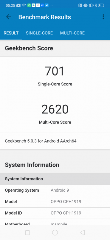 OPPO Reno 10x Zoomのベンチマーク