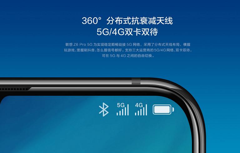 Lenovo Z6 Pro 5Gは 5G通信対応モデル となっています。