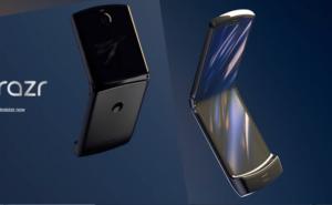 モトローラ、6.2縦長ディスプレイを折りたためる防滴のスマホ「razr」正式発表