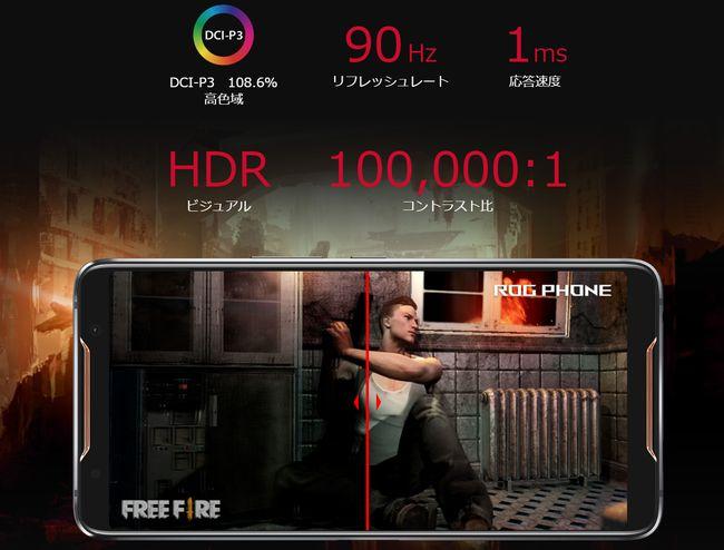 ROGPhoneはゲームに最適化を実施