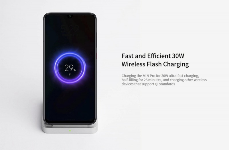 30W Mi Charge Turboワイヤレス充電スタンドの仕様