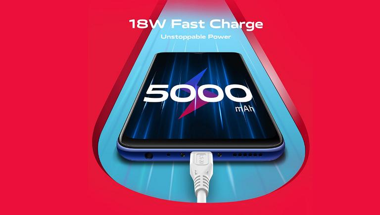 5000mAhの大容量バッテリーと18W急速充電
