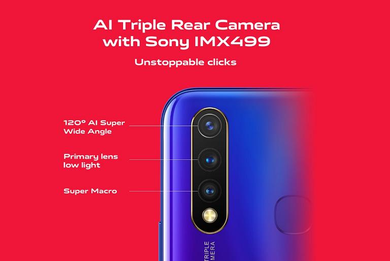 ソニー製カメラセンサーIMX499を含むトリプルカメラ