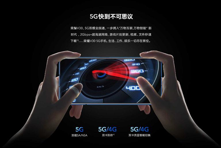 Honor V30は5G通信に対応