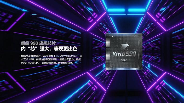 Kirin 990  フラッグシップチップ搭載
