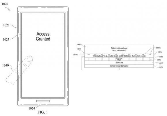 iPhone ディスプレイ指紋認証