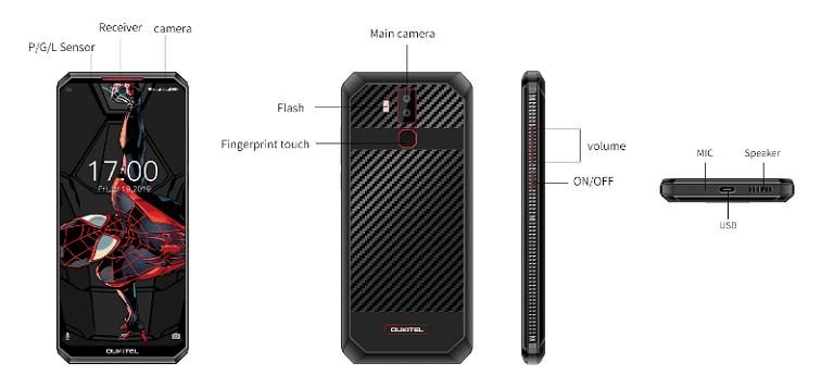 OUKITEL K13 Proの筐体
