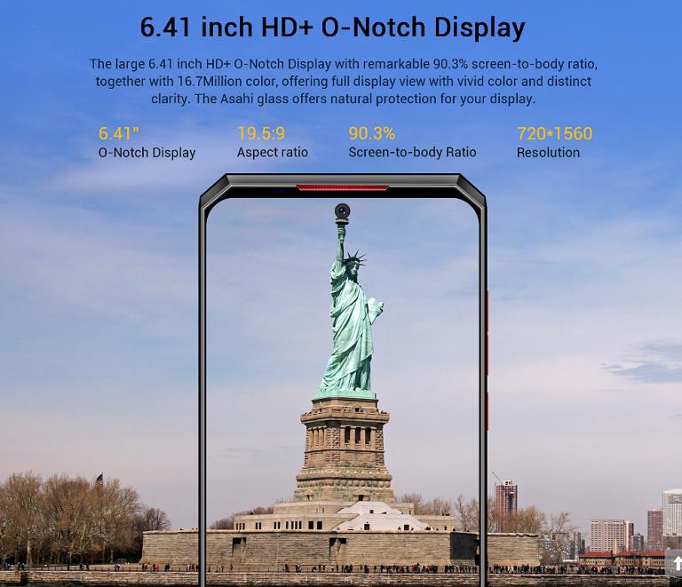 6.41インチの大型ディスプレイ
