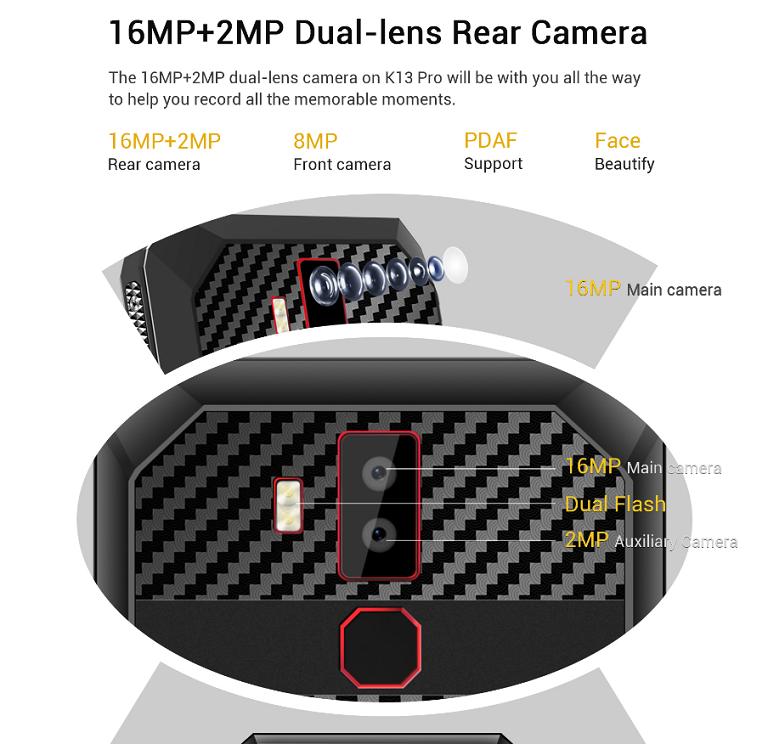 16MPのデュアルカメラ搭載