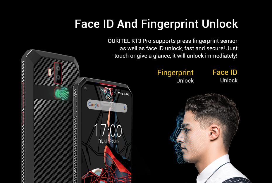 顔認証と指紋認証対応