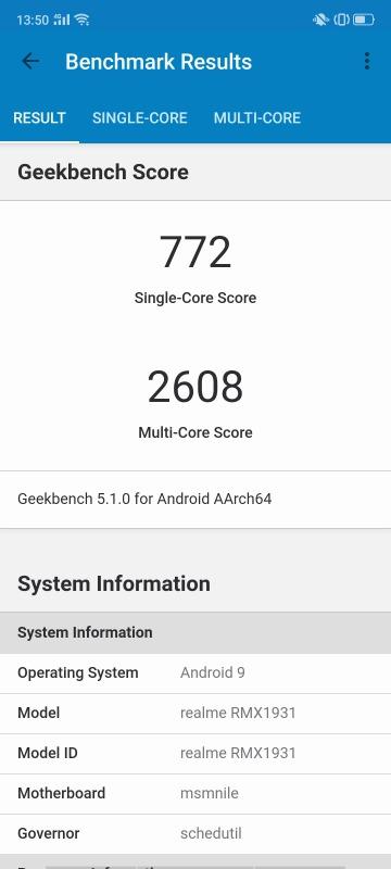 Realme X2 ProのGeekbench 5