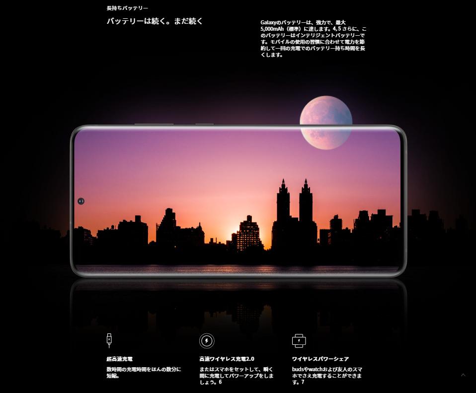 Galaxy-S20+のバッテリー性能