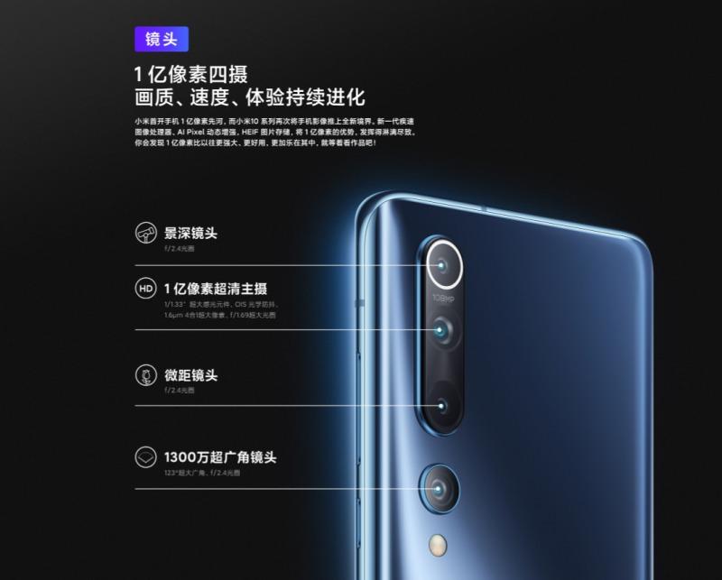 Xiaomi Mi 10のカメラ