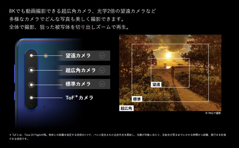 AQUOS R5Gのカメラ