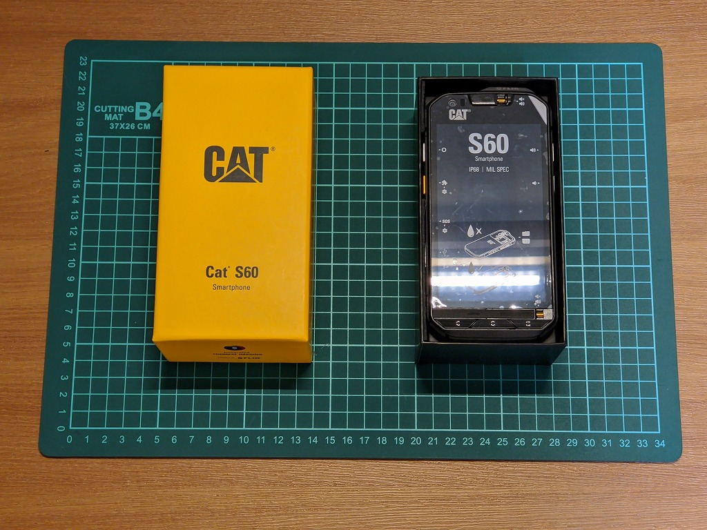 Cat S60のパッケージ