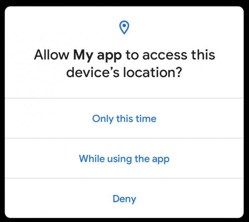 Android 11のワンタイム許可