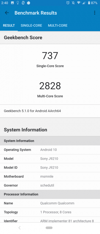 Xperia 5のGeekbench