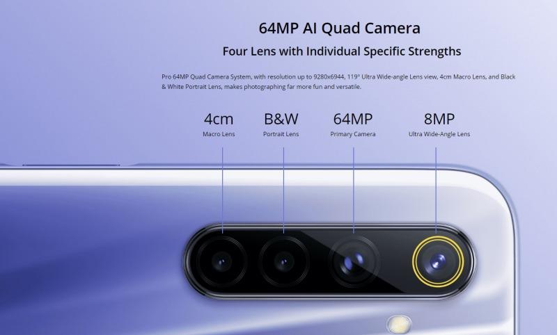 Realme 6のカメラ