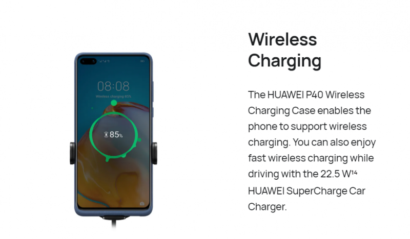 HUAWEI P40ワイヤレス充電