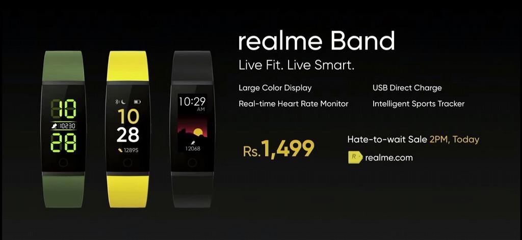 Realme Bandの価格と詳細
