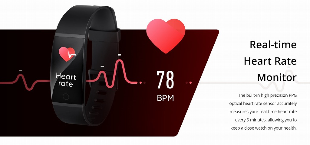 Realme Bandの心拍数測定シーン