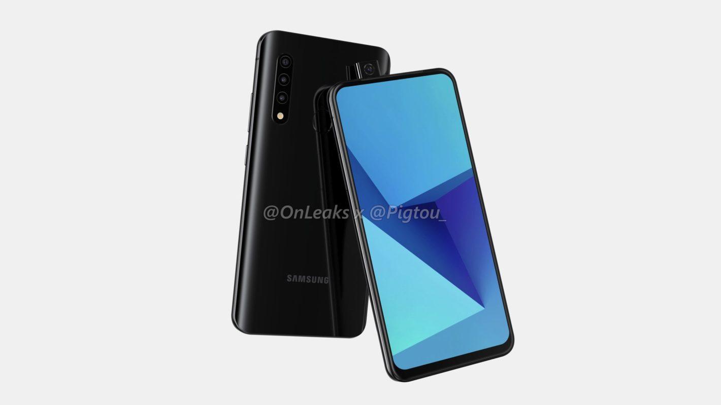 Samsung ポップアップカメラ搭載新型スマホの画像