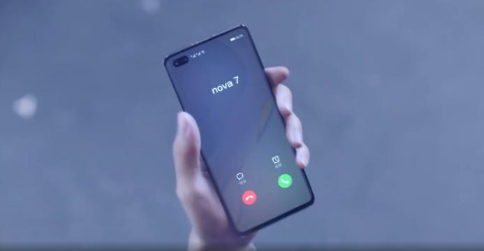 HUAWEI nova7の画面
