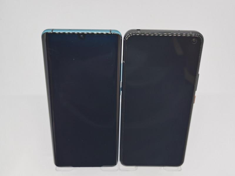 左:HUAWEI P30 Pro(19.5:9)画面と右:iQOO 3 5G(20:9)画面の比較