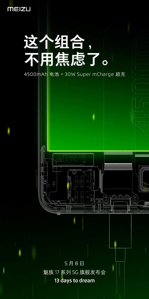 Meizu 17シリーズのバッテリー