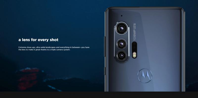 Motorola Edge+カメラ紹介の画像