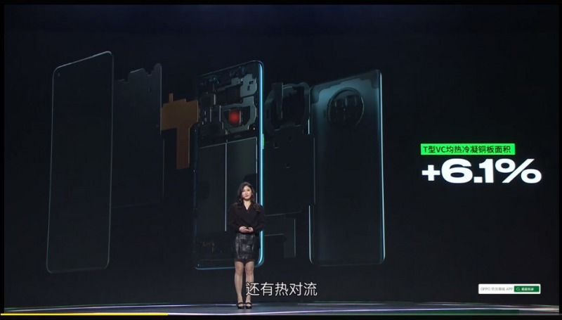 OPPO Ace2の排熱構造