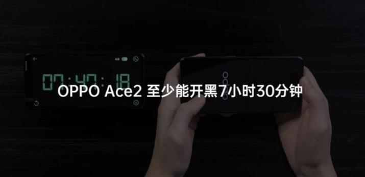 OPPO Reno Aceのゲーム時のバッテリー稼働時間についてのOPPO公式画像
