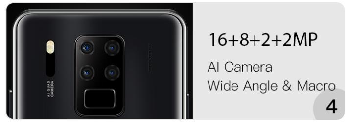 OUKITEL C18 Proのカメラ