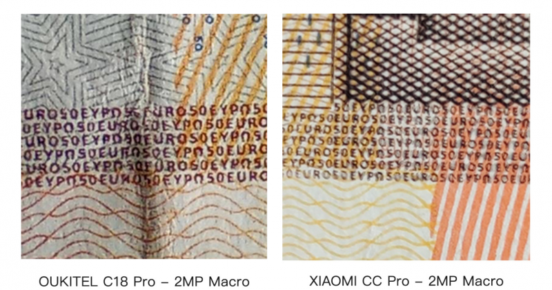 OUKITEL C18 ProとXiaomi Mi CC9 Proとのカメラ比較