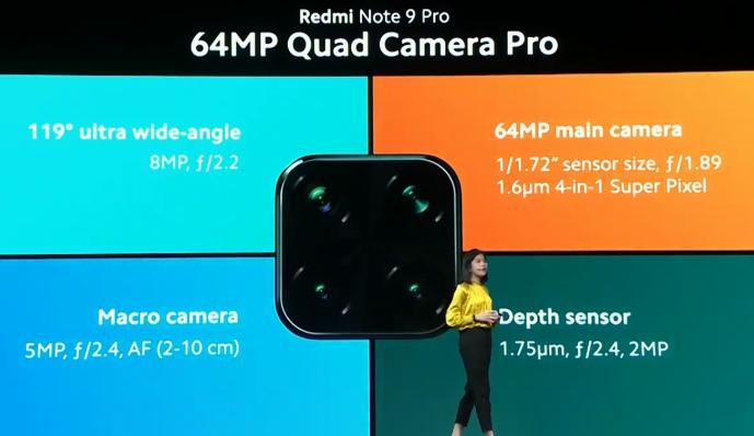 Redmi note 9 Pro グローバル版の画像