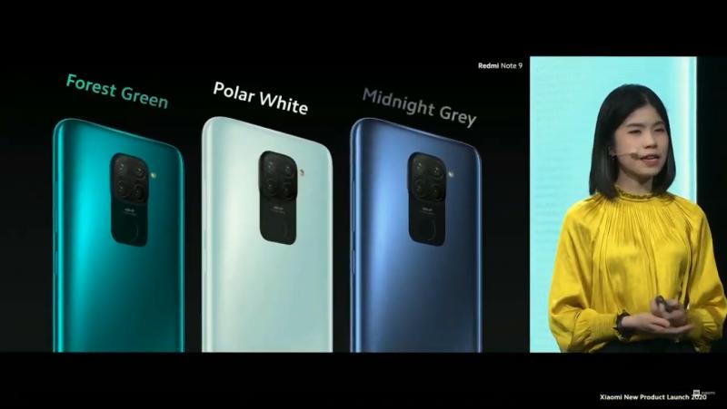Redmi Note 9のカラー