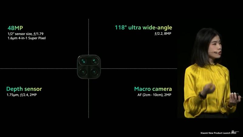 Redmi Note 9のカメラ構成