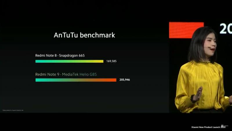 Redmi Note 9のAntutuベンチマークスコア