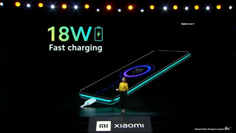 Redmi Note 9の充電速度(18W)