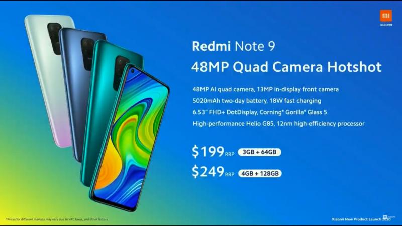 Redmi Note 9の価格