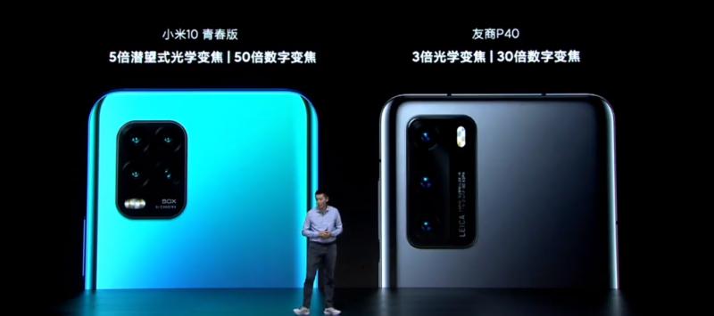 Xiaomi Mi 10 Youth Editionのカメラ性能比較