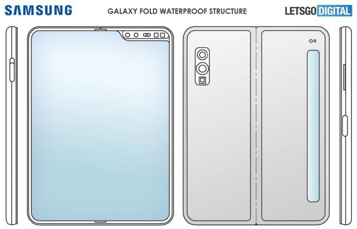 Galaxy Fold 2のレンダリング画像
